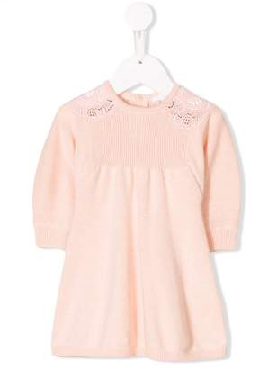 Chloé Kids embroidered panel dress
