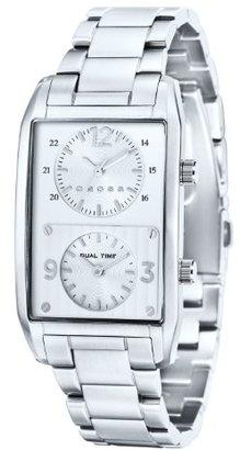 Cross クロスGothamメンズ用デュアル時間ステンレススチールブレスレットStrap Watch cr8004 – 22
