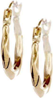 Candela 14K Yellow Gold Puffed Swirl Hoop Earrings
