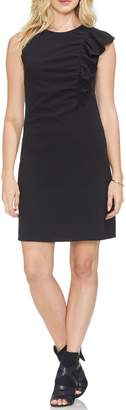 Vince Camuto Asymmetrical Ruffle Ponte Dress
