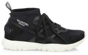 Valentino Mesh Low Sock Sneakers