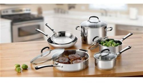Calphalon 10-pc. Stainless Steel Simply Stainless Cookware Set