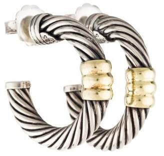 David Yurman Cable Hoop Earrings