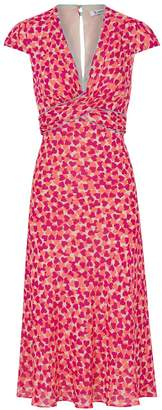Libelula Millie Dress Pink and Orange Hearty Print