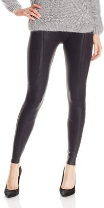 Yummie by Heather Thomson Women's Modern Mid Rise Slimming Coated Moto Leggings
