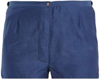 Thierry Colson Jours De Venise cotton and silk-blend shorts