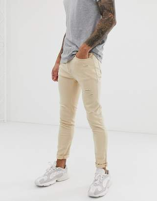 N. Liquor Poker super skinny jean in ecru