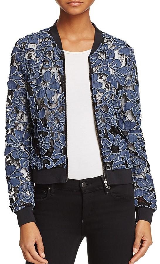 Lucy Paris Demi Floral Bomber Jacket