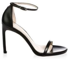 Stuart Weitzman Women's Nudistsong Strappy Sandal - Black - Size 6.5
