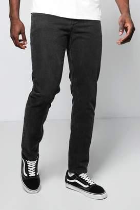 boohoo Slim Fit Charcoal Denim Jeans In 11oz