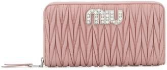 Miu Miu pleated continental wallet