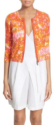 Tracy Reese Front Zip Cotton Cardigan $218 thestylecure.com