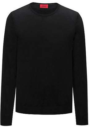 HUGO BOSS Crew-neck sweater in a lightweight merino wool blend