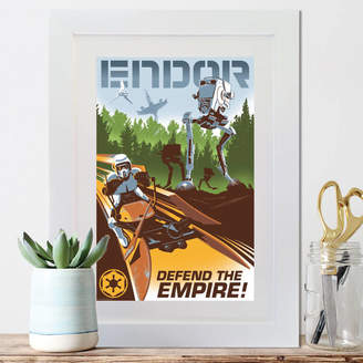 Star Wars Instajunction Retro Endor Framed Print