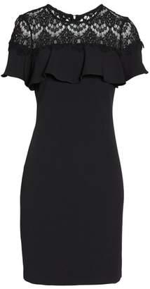 Julia Jordan Lace Ruffle Sheath Dress