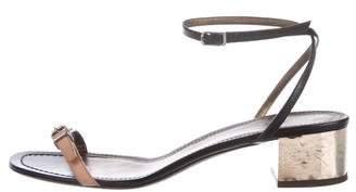 Lanvin Embellished Ankle-Strap Sandals