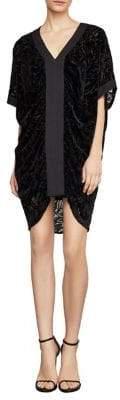 BCBGMAXAZRIA Velvet Burnout Shift Dress