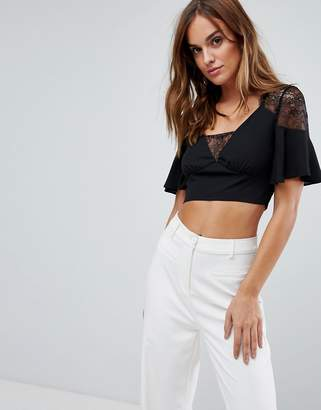 Asos Lace Wrap Crop