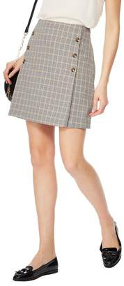 Red Herring Grey Checked Suit Skirt