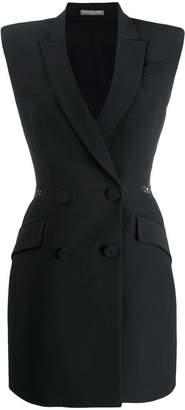 Alexander McQueen Double-breasted slash mini dress