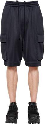 Juun.J Oversize Tech Cotton Blend Cargo Shorts