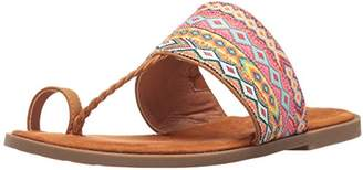 Rocket Dog Women's Adela Webster Fabric/Smooth Pu Toe Ring Sandal