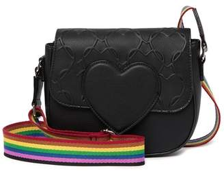 Betsey Johnson Quilted Heart Crossbody Bag