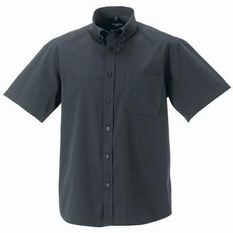 "Russell Athletic Russell Collection Mens Short Sleeve Classic Twill Shirt (3XL (Collar 18.5-19""))"