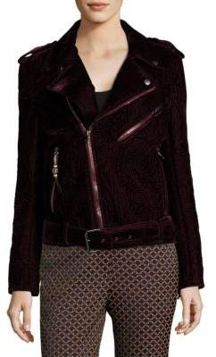 Etro Velvet Paisley Moto Jacket