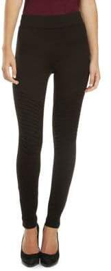 Dex Ribbed Moto Leggings