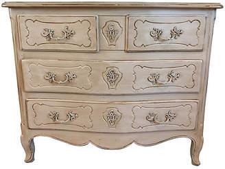 One Kings Lane Vintage French Hand-Painted Gray Dresser - Von Meyer Ltd.