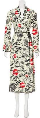 Rixo London Printed Wrap Dress