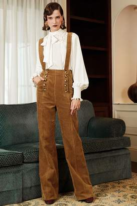 Genuine People Cotton Corduroy Flare Overall