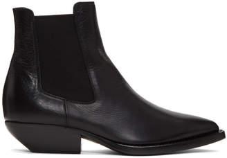 Saint Laurent Black Theo Chelsea Boots