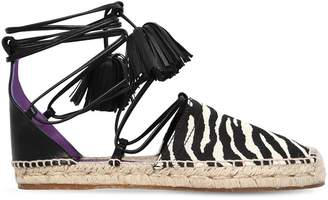 DSQUARED2 20mm Animalier & Leather Espadrilles