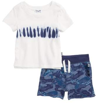 Splendid Whale Print T-Shirt & Shorts Set
