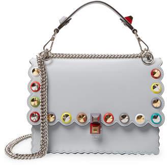 Fendi Women's Kan I Scalloped Stud Crossbody Bag