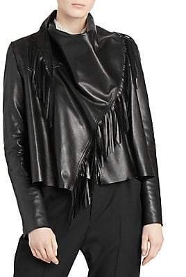Isabel Marant Women's Fringed Leather Jacket