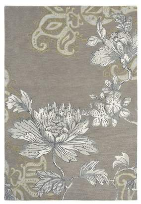 Wedgwood Grey Fabled Floral Wool Rug