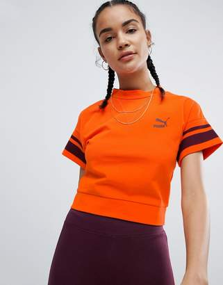Puma Tipping Tee In Orange