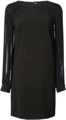Halston strip sleeve shift dress