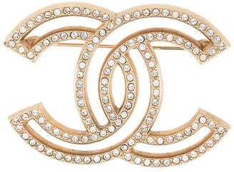 Chanel Pre-Owned CC brooch pin corsage