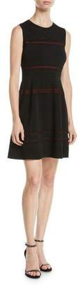 Diane von Furstenberg Celina Sleeveless Lace-Trim Short Dress
