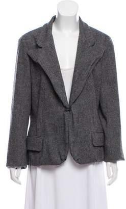 Lanvin Herringbone Wool Blazer
