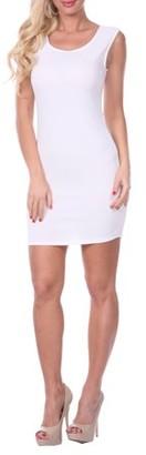 White Mark Women's Sheath Mini Dress