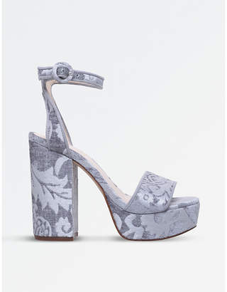 Nine West Krewl platform floral sandals