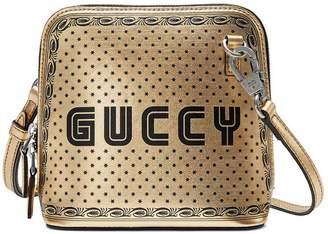 Guccy print mini shoulder bag