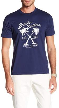 Brooks Brothers Vintage Palm Crew Neck Tee