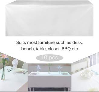 HILLD Rectangular Table Cover For Wedding Party Banquet 10 PCS Dining Tablecloths
