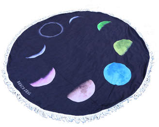 Colorful Moon Round Beach Towel